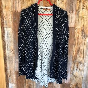 BELLDINI Navy & White Geolined Cardigan. Large.